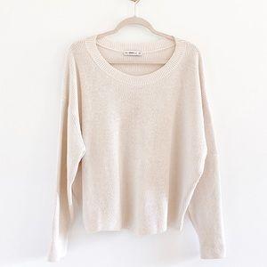 Zara Knit Ribbed Cotton Chunky Sweater